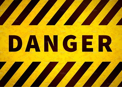 danger-sign-old-warning-plate-with-yellow-and-black-stripes-and-grunge-texture-
