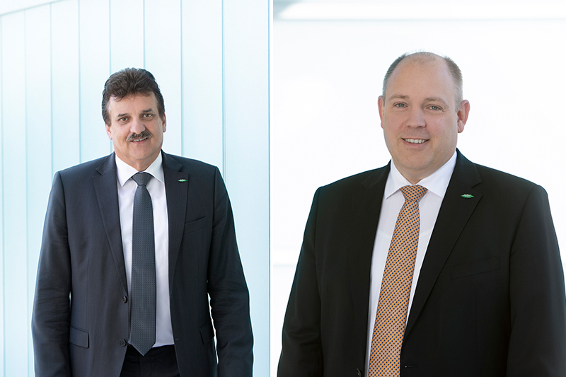 Left: Christian Wehrle, CEO and Chairman of the Executive Board of BITZER and right: Rainer Große-Kracht, CTO and Vice Chairman of the Executive Board of BITZER. Photo by Bitzer