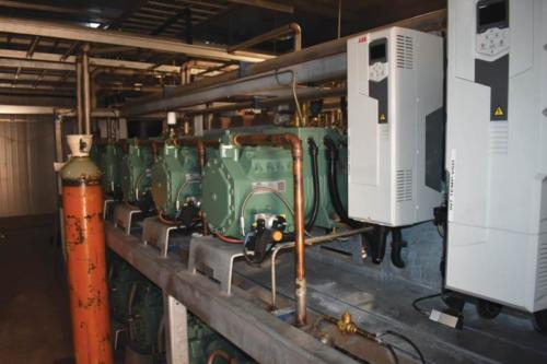 Variable speed drives allow a soft start as well as the ability to run to the required capacity.