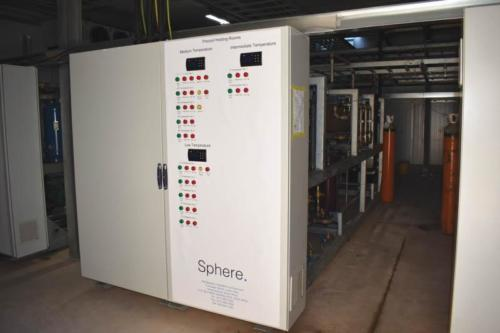 One of the control panels installed in the refrigeration plant room.