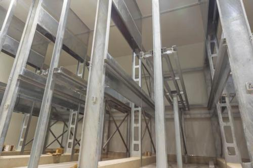 The steri-room racking that was designed and developed by Manny Dos Anjos. © Precool Cold Storage© Precool Cold Storage