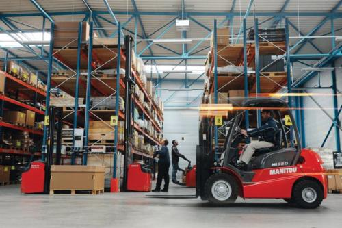 Stackers and forklifts are amongst the most common materials handling equipment to be found in storage facilities. Photo by Linde Materials Handling