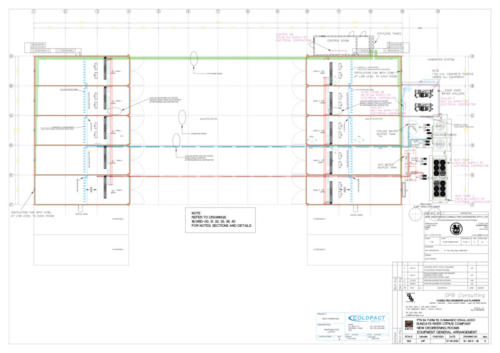 The site layout of the new facility at SRCC. Photo by © Coldfact Projects