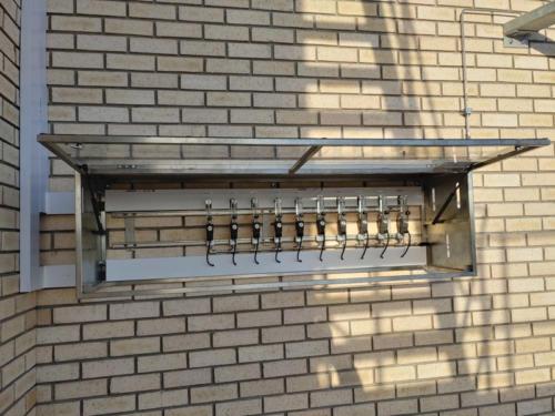 The ethylene flowmeter cabinet.