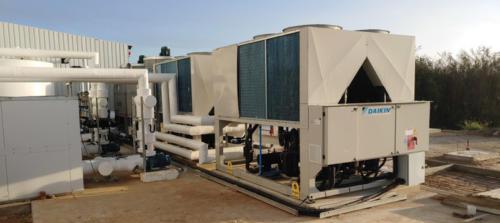 The Daikin 300kW heat pumps.